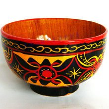 土漆餐具花碗